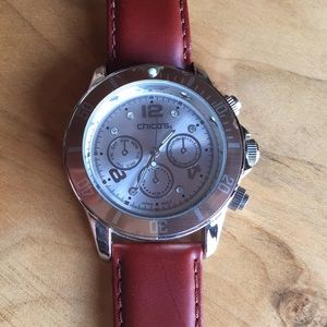 Chico's watch, sliver and rose gold